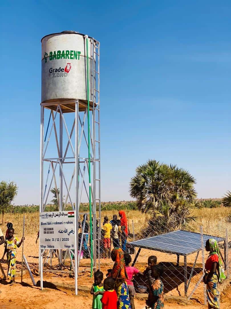 Puit eau babarent dellora afrique niger humanitaire